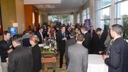 Guests mingle during the networking session.