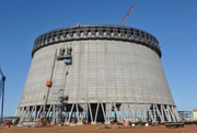 Unit 3 Cooling Tower in January 2014.