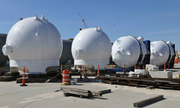 Unit 3 Accumulator Tanks and Core Makeup Tanks on the facility site.