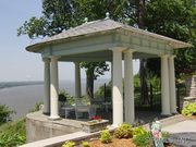 5 South Fairmount Drive: The grounds feature a gazebo atop the bluff.