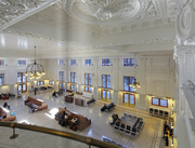 The grand waiting hall at King Street Station was a focal point of the restoration.