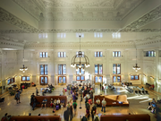 The entryway to King Street Station was restored to give the same welcome to passengers today that those in 1906 felt when the station opened.