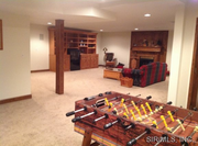 4822 Shadowbrook Lane: The lower level has a recreation room with a fireplace, a bedroom, a bathroom and a workshop.