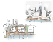 "Jacksonville Landing repositioning Priority: Near-term, 2014-2019 Northbank A conceptual redesign of the Landing was presented to the DIA in mid-January.  ""The Plan Update recommends the DIA partner with the private sector in any redevelopment initiatives supported by market analyses that reposition the Landing with more destination experience events, mixed-use including residential, shopping, ample pedestrian access to the river, and one-of-a-kind restaurants that cannot be found elsewhere in the City."""