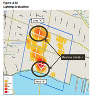 "Lighting improvements Priority: Near-term, 2014-2019 Northbank The plan recommends upgrades and improvements to lighting throughout the Northbank core, based on recommendations from a Jacksonville Sheriff's Office ""downtown lighting evaluation."""