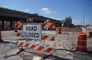 The demolition work covers about three-and-a-half blocks of I-794 east of North Milwaukee Street.