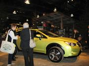There's always a commercial element to the Flower Show, In this case a new CrosTrek hybrid model from Subaru.
