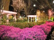 An exhibit by Burke Brothers Landscape Designer of Wyndmoor, Pa., adapts themes from the Getty Museum in Los Angeles.
