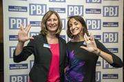 Sany Abalos, principal-in-charge of the Phoenix office, and Karen Stafford of Mountain States Employers Council, Inc. live long and prosper at the 2014 Book of Lists Party Feb. 27.