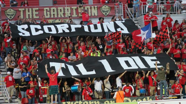 San Antonio Scorpions fans have high hopes for the Saturday, March 1 match-up against FC Dallas.