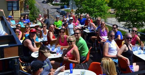Brunch Running club meets at Linger to socialize after members complete a run. The club meets throughout the Denver running season (April-September).
