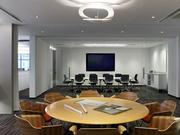 Conference rooms can function independently or combine to become one larger room.