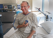 """O'Brien is all smiles after the procedure, which took 22 minutes start to finish. After the surgery, staff made sure the monitor was working. His heart rate was 75 beats per minute, which is normal. O'Brien said the whole thing was """"painless."""""""