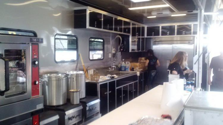 The new $135,000 rolling kitchen that Bottomless Pit team founder MIke Trapolino had made in Chicago.