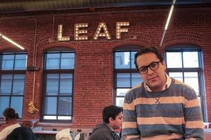 Leaf CEO Aron Schwarzkopf said the company was formerly based out of Cambridge-based co-working space Intrepid Labs, where it was taking up about half of the space's 10,000 square feet of workspace.