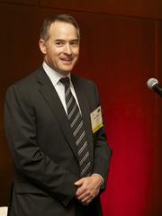 David Miller of T-Mobile USA Inc. accepts the award for Outstanding Corporate Counsel for a large company (with more than 2,500 employees) during the Puget Sound Business Journal 2013 Corporate Counsel Awards at the W Hotel in Seattle Thursday April 11, 2013.