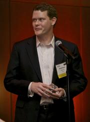 Brad Owens of Zillow Inc. was awarded the Outstanding Corporate Counsel Rising Star Award during the Puget Sound Business Journal 2013 Corporate Counsel Awards at the W Hotel in Seattle Thursday April 11, 2013.