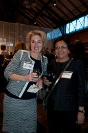 Morgan Kinross-Wright (left) and Sri Zaheer, both from the University of Minnesota's Carlson School of Management