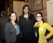 Runyon Saltzman and Einhorn assistant account manager Noelle Maring, California Asian Chamber program coordinator Pallavi Shimoda and RSE account manager Michelle McIntosh pose at the Sacramento Asian Pacific Chamber's Lunar New Year celebration.