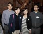 Drexel University students Solomon Isao, Luxi Cui, Minjan Yu and Eric Wong pose at the Sacramento Asian Pacific Chamber's Lunar New Year celebration.