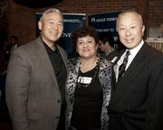 Sacramento Asian Pacific Chamber of Commerce chief operating officer Glen Fuji, business development director Maria Kettle and California Northstate College of Pharmacy vice president Norman Fong pose at the Sacramento Asian Pacific Chamber's Lunar New Year celebration.