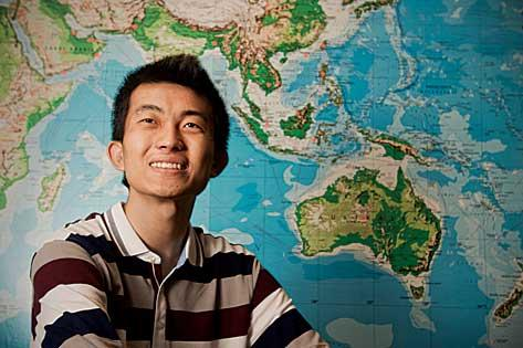 The surge in overseas students has been dominated by Chinese students, such as Jiaming Liu, who is a sophomore at Suffolk University.