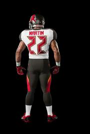 Nike, the NFL and the Tampa Bay Buccaneers unveiled an image of the team's new uniforms.