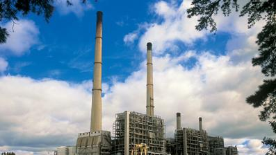The coal-fired Roxboro Steam Plant is one of the largest power plants in the United States.