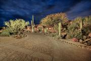 The driveway leading up to the North Scottsdale home.