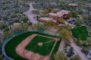 The baseball field on the property.