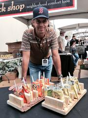 Phoenix's Tuck Shop owner DJ Fernandes served Philly cheese steak and buffalo chicken in Cheetos and Funyuns bags.