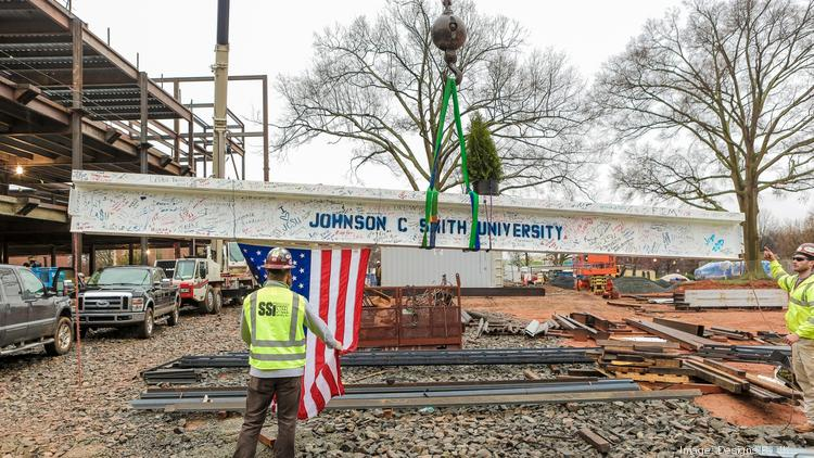 Johnson C. Smith held a topping-out ceremony Monday for its new $45 million Science Center.