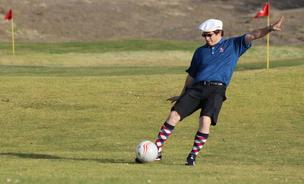 FootGolfers are required to adhere to the traditional golf course rules, which means no soccer cleats allowed on the field.