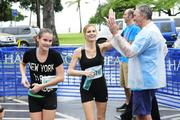 Linda Jameson, right, director of philanthropy at Kapiolani Medical Center for Women & Children, with daughter Lauren after running the Hawaii Pacific Health Women's 10K at Kapiolani Park in Honolulu.