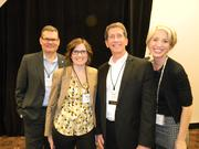 From Visit Milwaukee (from left), Brent Foerster, Megan Gaus, Paul Upchurch and Wendy Strong.