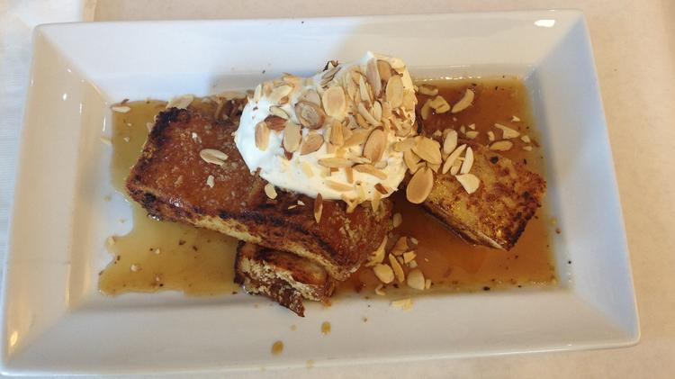 This is French toast served at Bacon and Butter in midtown Sacramento.
