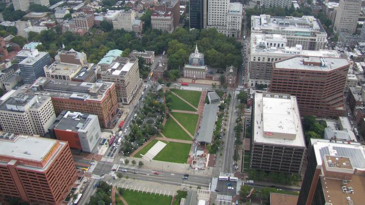 Dow Chemical is leaving behind its offices at the Rohm & Haas building on Independence Mall.