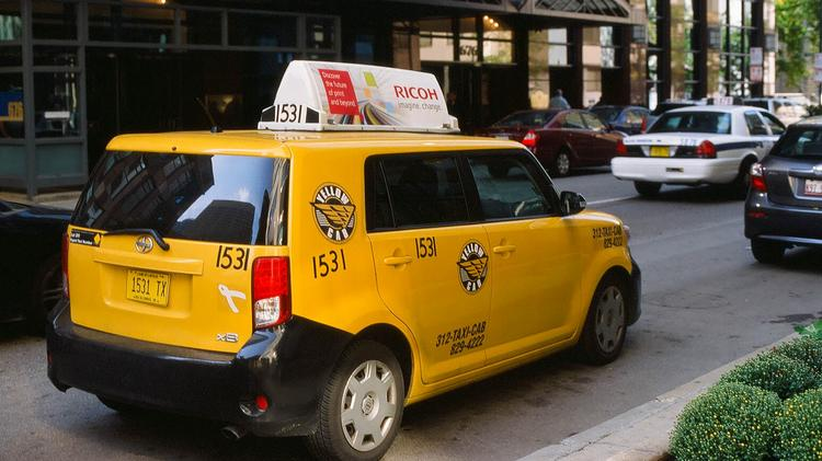 A Yellow Cab in Chicago.