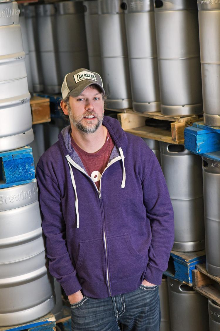Justin Bonner, a partner in Jailbreak Brewing Co., the area's newest brewery that will start production this week.