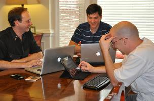 Brent Baker, Davidson Wicker and Aaron Sollars from Ravetree.