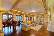 Living room with room for a grand piano at 209 N. Birch Road.