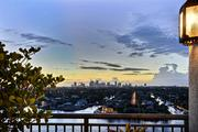 View of downtown Fort Lauderdale from the terrace at 209 N. Birch Road.