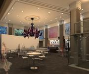 An artist rendering of Liquid Art House, a new restaurant in Boston's Park Square that combines food and art.