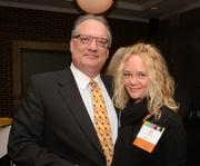 John Townsend (Alerus Financial) and Jill Rux from Bold Award finalist Miracles of Mitch Foundation