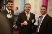 (From left) ACG President Brian Klein, John Falb from The PrivateBank and ACG Past President Mike Wolf