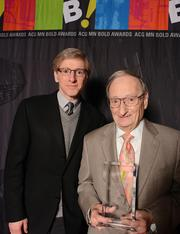 Baldinger Bakery CEO Steve Baldinger and his father, Bob Baldinger. Their company won the Bold Award for corporate middle market.