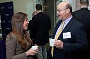 Having a lighter moment at the Boston Business Journal's 2013 Best Green Practices event  were Meagan O'Hara of Fort Point Project Management and Jonathan Keefe of Cassidy Turley.