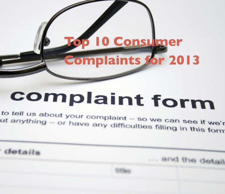 Top 10 Consumer Complaints in Colorado for 2013.