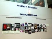 Ultimate Software's headquarters shows plaques describing recent charitable efforts.