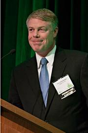 One of the award presenters at the Boston Business Journal's 2013 Best Green Practices event was Terry Sobolewski, vice president of sales & program operations of National Grid, a sponsoring partner of the event.